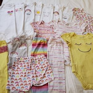 Baby Girls Sun Days of Week Mix & Match Set